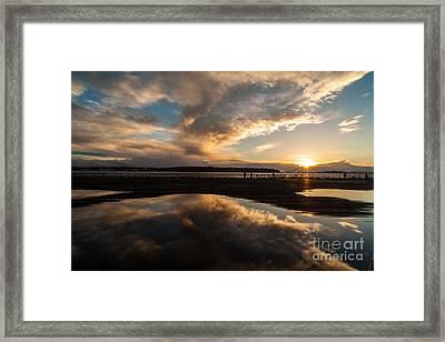 Deep Pool Of Sunset Light Framed Print