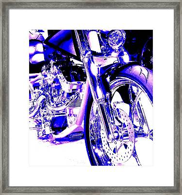 Deep Purple Art On Two Wheels Framed Print