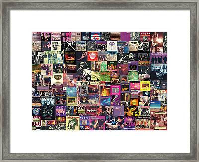 Deep Purple Collage Framed Print by Taylan Apukovska