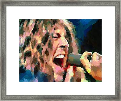 Deep Purple Gillan Child In Time 2 Framed Print by Yury Malkov