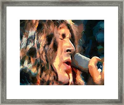 Deep Purple Gillan Child In Time Framed Print by Yury Malkov