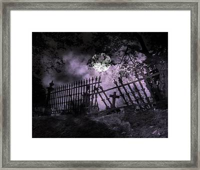 Deep Purple Midnight Framed Print by Gothicrow Images