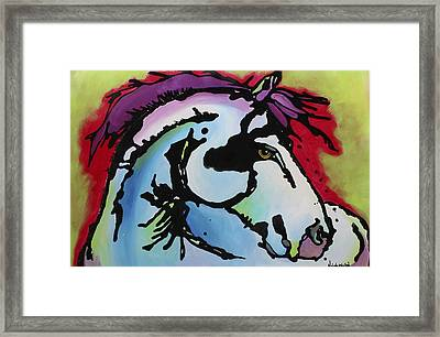 Framed Print featuring the painting Deep Red Bells by Nicole Gaitan