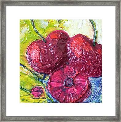 Deep Red Cherries Framed Print by Paris Wyatt Llanso