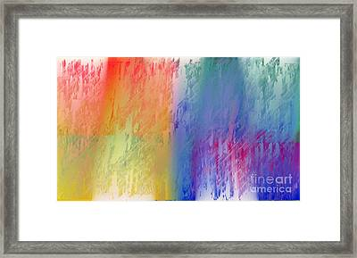 Deep Rich Sherbet Abstract Framed Print by Andee Design