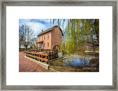 Deep River County Park Grist Mill Framed Print by Paul Velgos