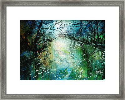 Deep River Pool Framed Print by Neil McBride