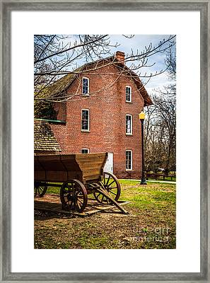 Deep River Wood's Grist Mill And Wagon Framed Print