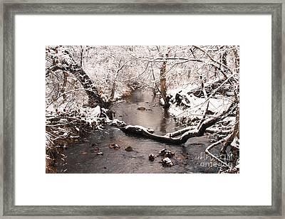 Deep Run In Winter Framed Print