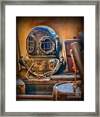 Deep Sea Diver Framed Print by Paul Ward