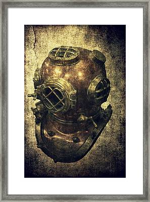 Deep Sea Diving Helmet Framed Print by Daniel Hagerman