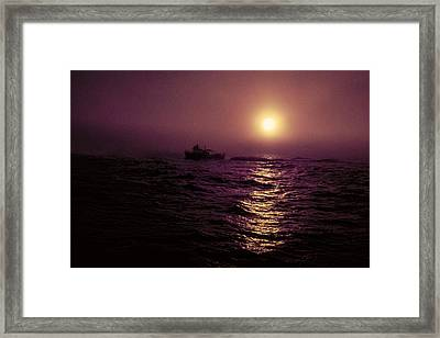 Deep Sea Fishing Off West Port Wa II Framed Print