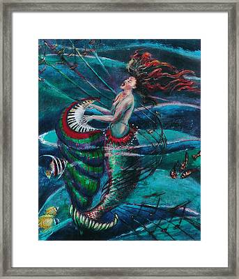Deep Sea Melody Framed Print