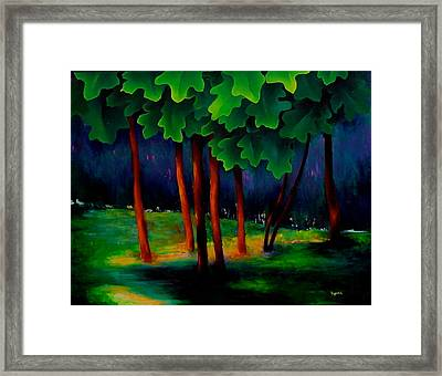 Deep Shadows Framed Print by Karin Eisermann