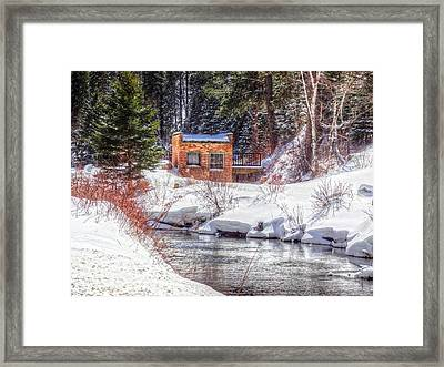 Deep Snow In Spearfish Canyon Framed Print