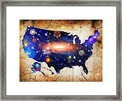 Deep Space America Framed Print