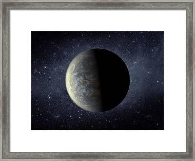 Deep Space Planet Kepler-20f Framed Print by Movie Poster Prints