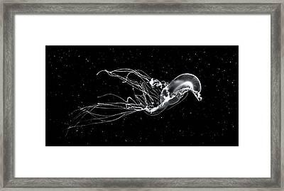 Deep Space Swim Framed Print