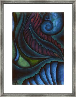Framed Print featuring the pastel Deep by Susan Will