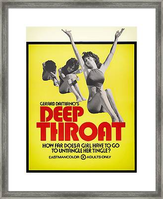 Deep Throat Movie Poster 1972 Framed Print by Mountain Dreams