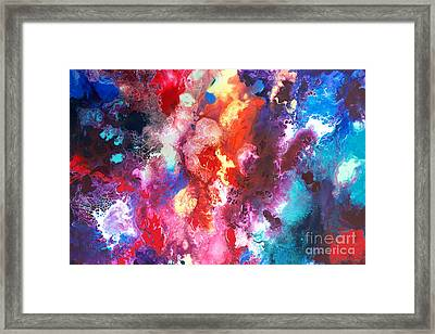 Deep Water Coral Framed Print by Sally Trace
