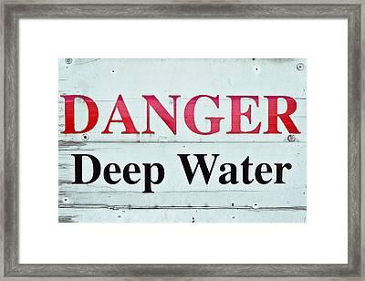 Deep Water Framed Print by Tom Gowanlock