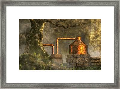 Deep Woods Still Framed Print by Daniel Eskridge