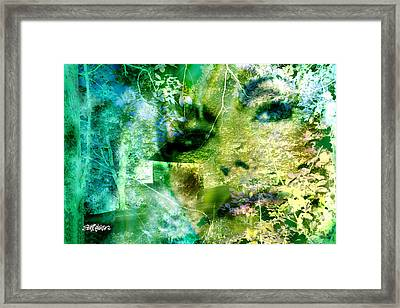 Framed Print featuring the digital art Deep Woods Wanderings by Seth Weaver