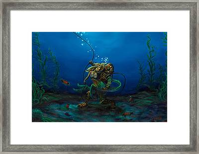Deepsea Love Framed Print by Andres  Soto