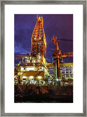 Deepwater Millenium 20 Miles Off Coast Of Ghana Framed Print