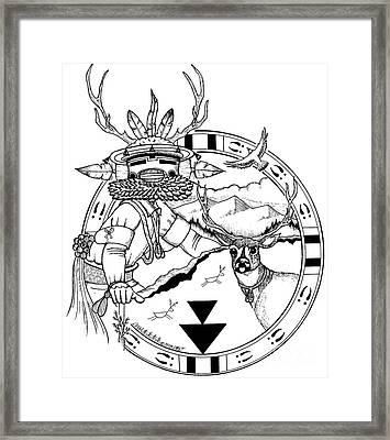 Deer Brotherhood Framed Print by Dalton James