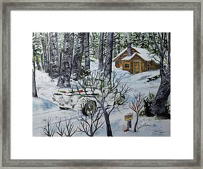 Deer Camp 141114 Framed Print