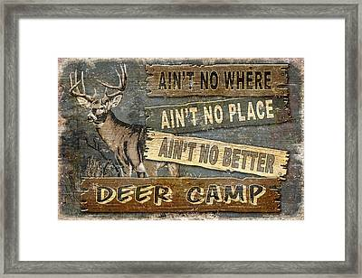 Deer Camp Framed Print