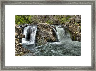 Deer Creek Falls Framed Print by Ren Alber