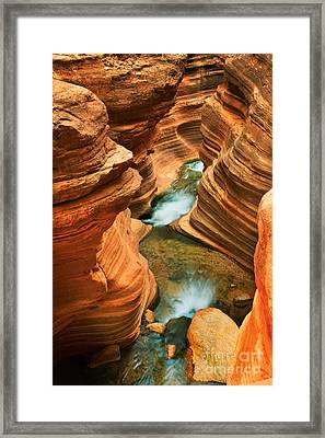 Deer Creek Slot Framed Print