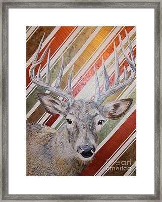 Deer Deco Framed Print by PainterArtist FINs husband
