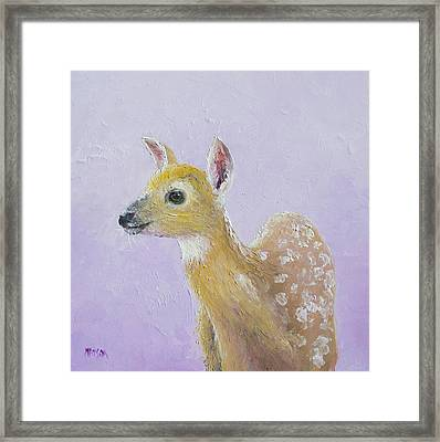 Deer Fawn Framed Print by Jan Matson
