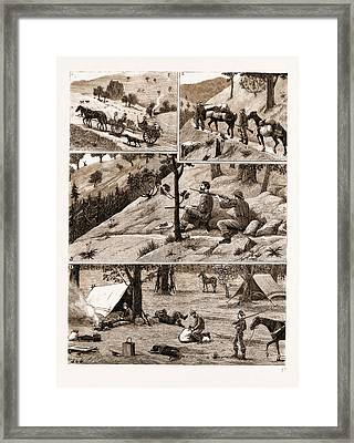 Deer Hunting In The Coast Range Mountains Framed Print