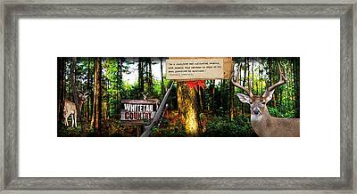 Deer Hunting Panoramic Framed Print