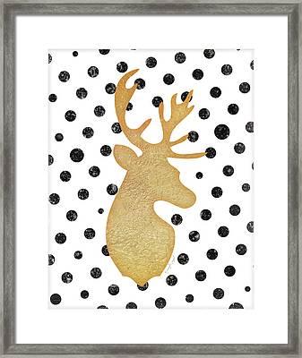 Deer I Framed Print by Jennifer Pugh