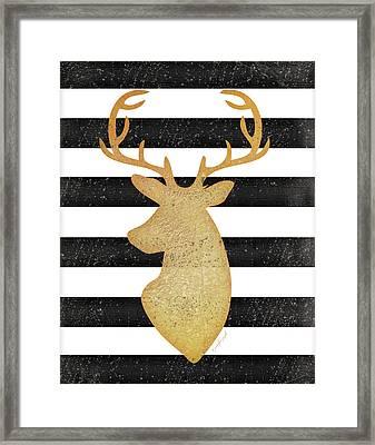 Deer II Framed Print by Jennifer Pugh