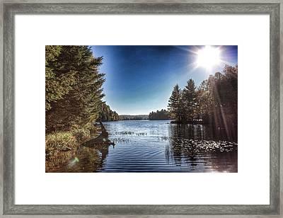 Deer Lake Narrows Framed Print by Lee Burgess