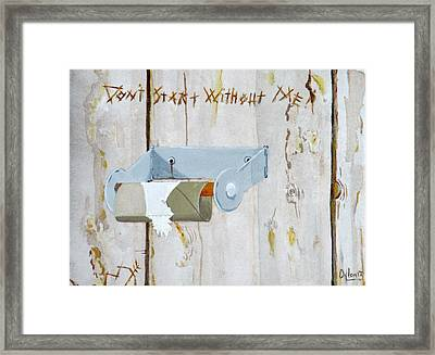 Deer Lease Dilemma Framed Print