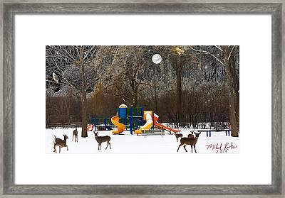 Deer Park Framed Print by Michael Rucker