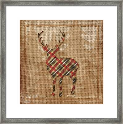 Deer Plaid Framed Print by Jennifer Pugh