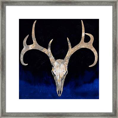 Deer Skull Framed Print by Michael Creese