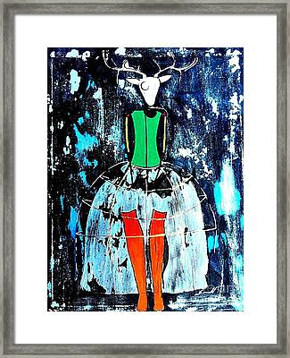 Deer Woman Framed Print by Amy Sorrell