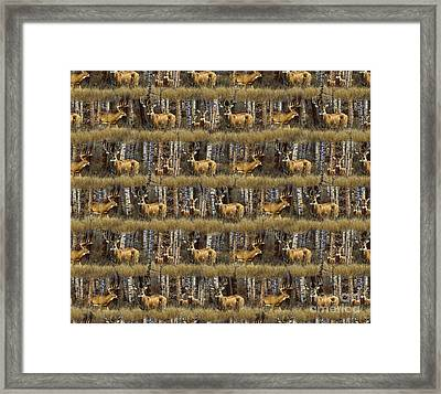 Deer Woods Duvet Pillow Art Framed Print