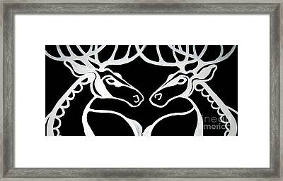Deer Work Framed Print by Amy Sorrell