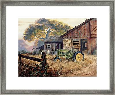 Deere Country Framed Print by Michael Humphries